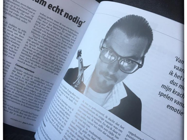 Interview Jazz bulletin, Nederlands Jazz Archief december 2016